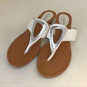 Liz Claiborne White Sandals, Like New, Size 9M